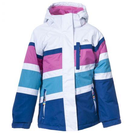 Talia Girls White Snow Jacket in White