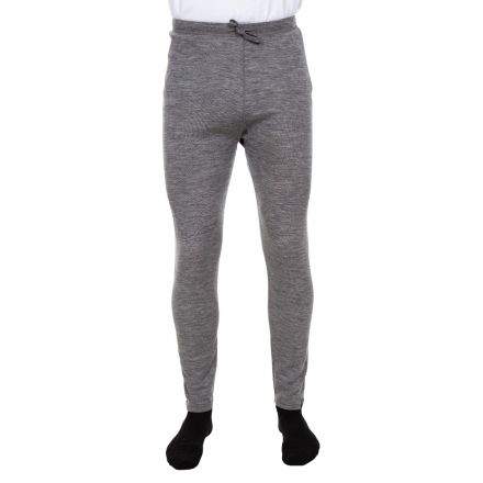 Fitchner Men's DLX Merino Wool Thermal Trousers in Grey, Back view on model