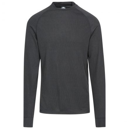 FLEX360 Adults' Long Sleeve Thermal Top in Black, Front view on mannequin