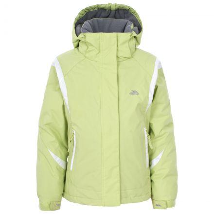 Trespass Girls Ski Jacket in Light Green Vanetta