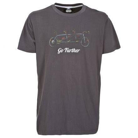 Hanks Men's Cycling Design Printed Casual T-Shirt