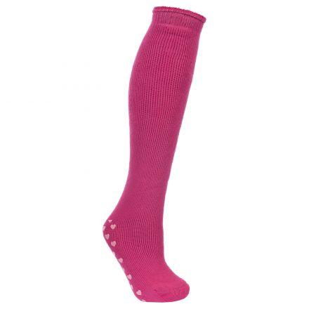 Hearts Women's Ski Socks in Pink