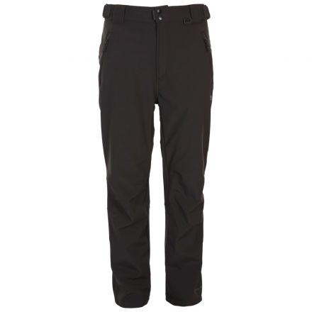 Hemic Men's Water Resistant Softshell Trousers in Black, Front view on model