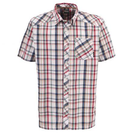 HOLT Mens Short Sleeve Shirt in White
