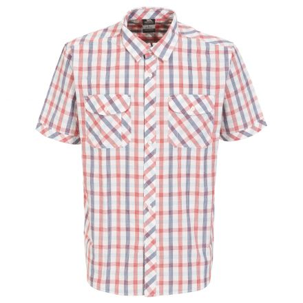 Hopedale Men's Short Sleeve Checked Shirt in Red