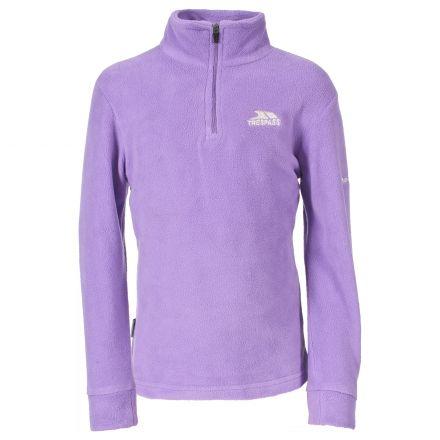 Trespass Kids Half Zip Fleece in Light Purple Louviers