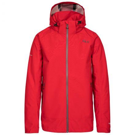 Lozano Men's DLX Waterproof Jacket in Red, Front view on mannequin