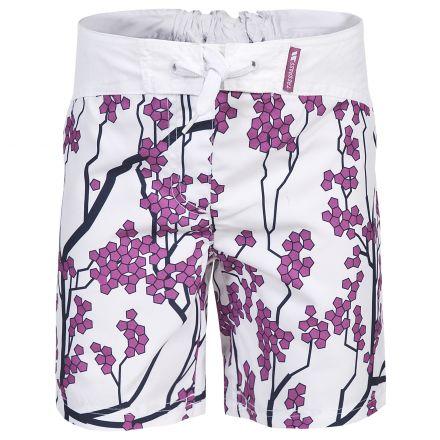 Trespass Kids Swim Shorts in White Mabel