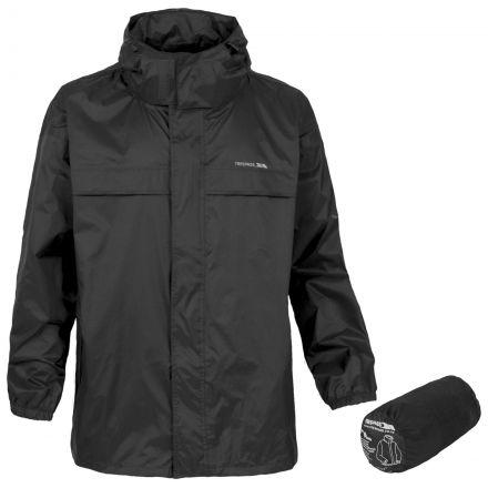 Packa Adults' Waterproof Packaway Jacket in Black