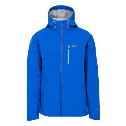 Marten Men's DLX Softshell Jacket in Blue, Front view on mannequin