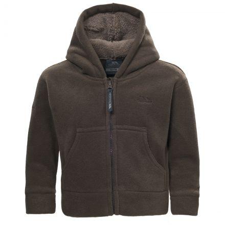 Alejandro Babies' Full Zip Fleece Hoodie in Brown