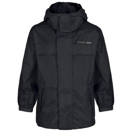 Trespass Kids Waterproof way Jacket in Black Packa