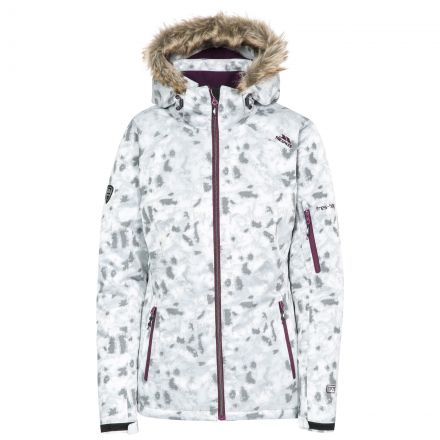 Merrion Women's Insulated Faux Fur Hooded Ski Jacket