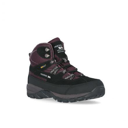 Merse Women's Breathable Walking Boots in Purple