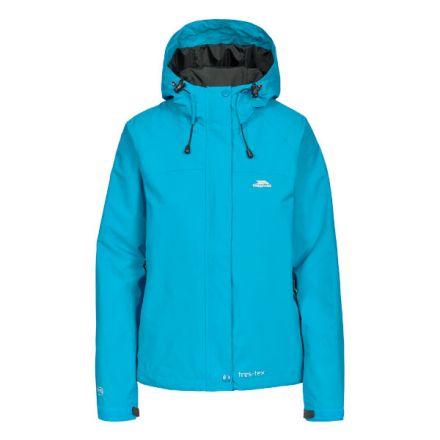 Trespass Womens Waterproof Jacket Hooded Miyake in Green