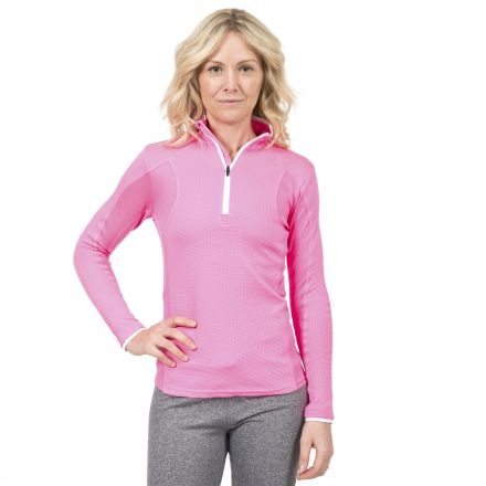 Ollog Women's Long Sleeved 1/2 Zip Neck Active Top
