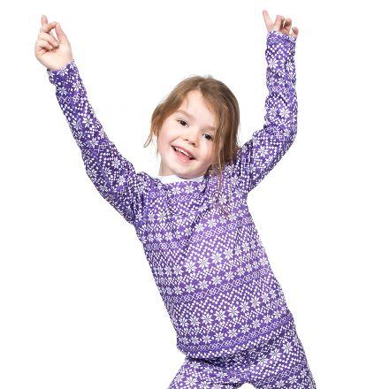 Roar Kids Base Layer Top in Purple