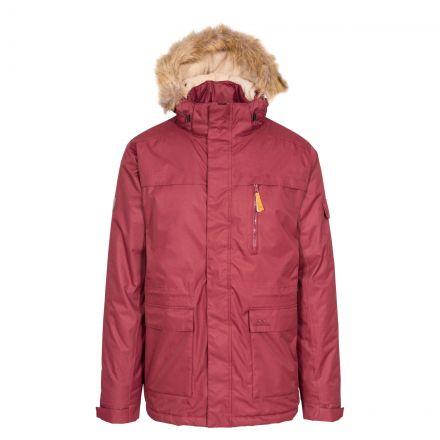 Mount Bear Men's Waterproof Parka Jacket in Purple