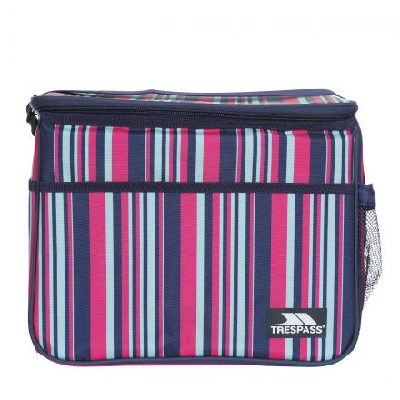 Striped Cool Box 15L in Navy, Back view