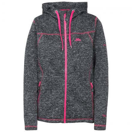 Odelia B Women's Pink Knitted Fleece in Black, Front view on mannequin