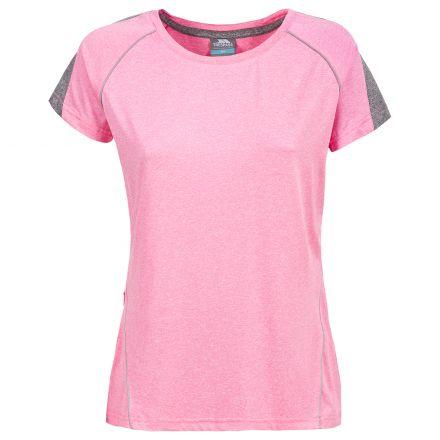 Oko Womens Short Sleeve Active T-shirt in Light Pink