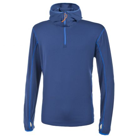 Oxy Men's Hooded Active Top in Blue