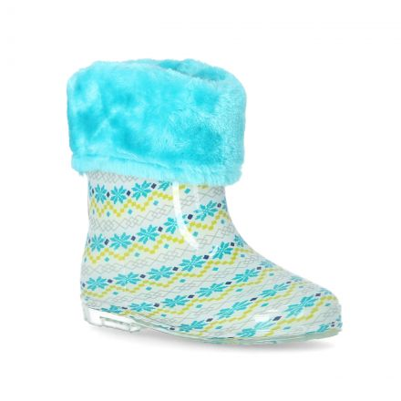 Pitter Babies Printed & Faux Fur Lined Wellies