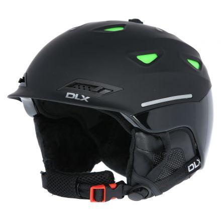 Renko DLX Adults' Ski Helmet in Black, Back view of helmet