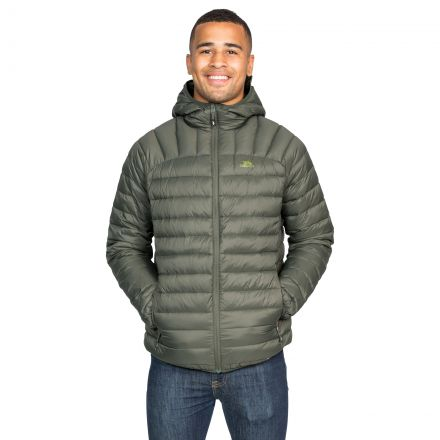 Romano Men's Down Packaway Jacket in Khaki