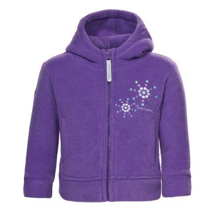 Shakira Babies' Full Zip Fleece Hoodie in Light Purple, Front view on mannequin