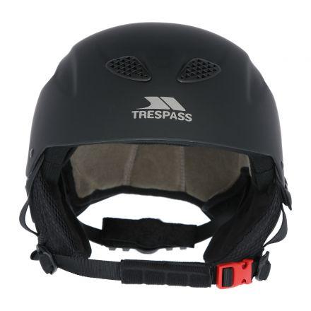 Skyhigh Unisex Ski Helmet in Black, Angled view of helmet