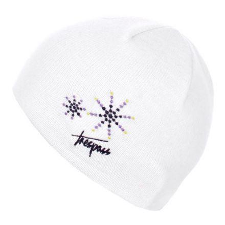 Trespass Kids Beanie Hat in White Sparkle