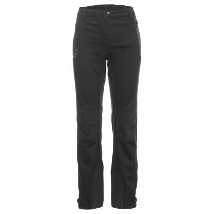Sola Women's DLX Softshell Walking Trousers in Black, Front view on mannequin