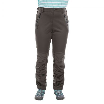 Sola Women's DLX Softshell Walking Trousers in Khaki, Front view on mannequin