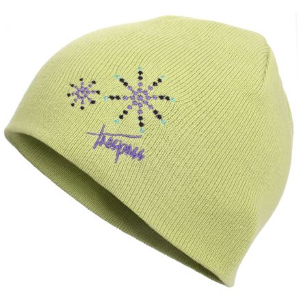 Trespass Kids Beanie Hat in Light Green Sparkle