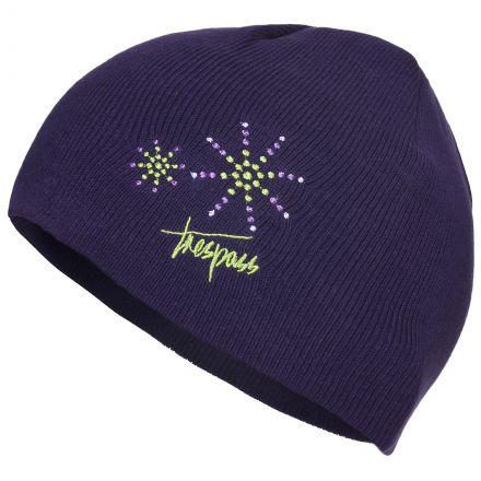 Trespass Kids Beanie Hat in Purple Sparkle