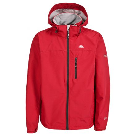 Stanford Men's Hooded Softshell Jacket in Red