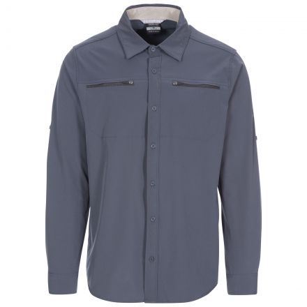 Strettington Men's Insect Repellent Shirt in Grey
