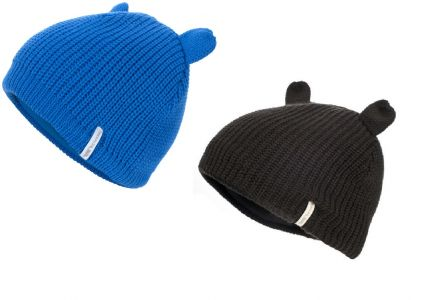 Toot Kids' Fleece Lined Knitted Beanie Hat with Bear Ears