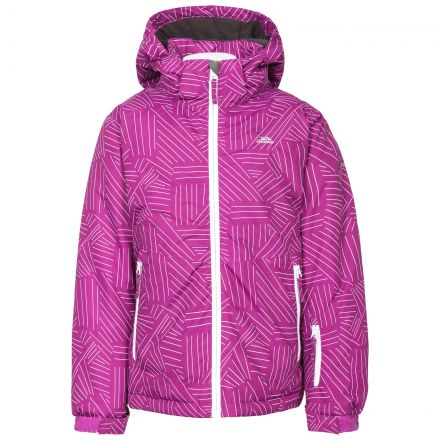 Touchline Girls' Insulated Patterned Ski Jacket