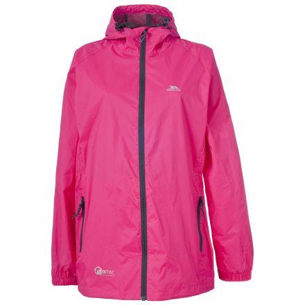 Trespass Adults Waterproof Packaway Jacket in Pink Qikpac