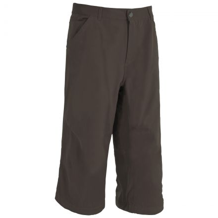 Trespass Youths 3/4 Length Trousers in Dark Brown Vauxhall