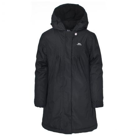 Vee Girls' Waterproof Jacket in Black