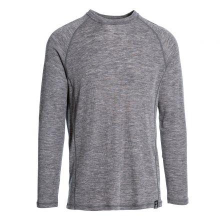 Wexler Men's DLX Merino Wool Thermal Top in Grey, Front view on mannequin