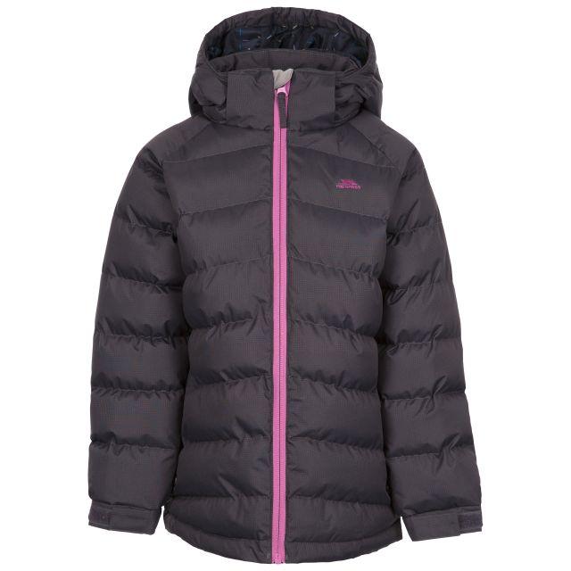 Trespass Women's Padded Waterproof Jacket Amira Dark Grey