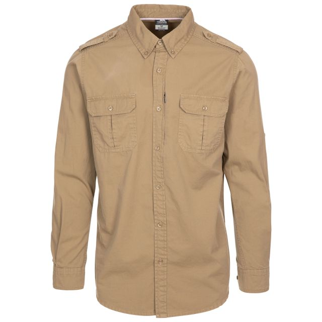 Trespass Men's Button-up Shirt Ballardean Cashew