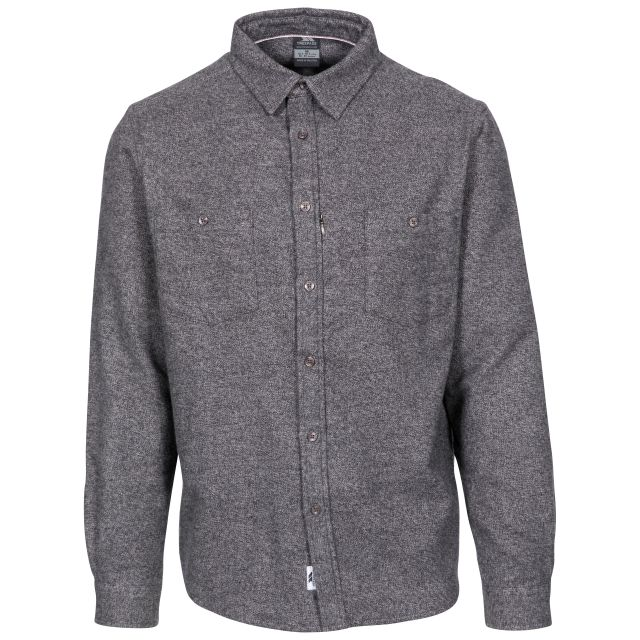 Buddworthwas Men's Cotton Long Sleeve Shirt in Grey