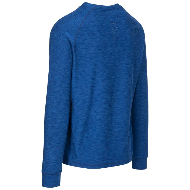 Callum Men's DLX Antibacterial Long Sleeve T-Shirt in Blue