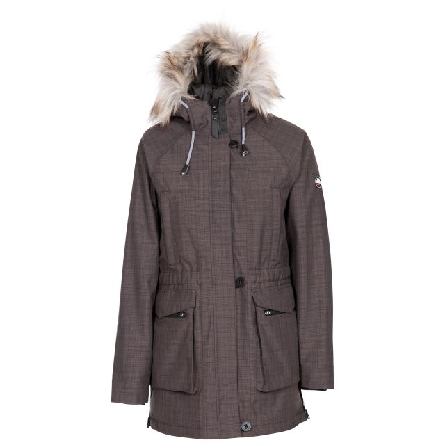 Caption Women's Waterproof Parka Jacket in Grey
