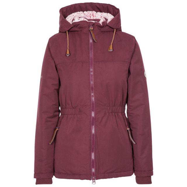 Trespass Womens Padded Jacket Fleece Lined Cassini Fig